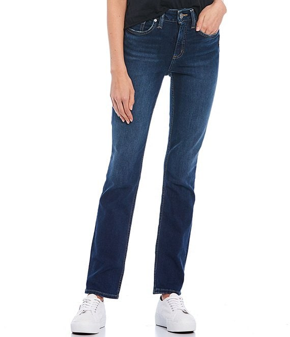 Color:Indigo - Image 1 - Avery Straight Jeans
