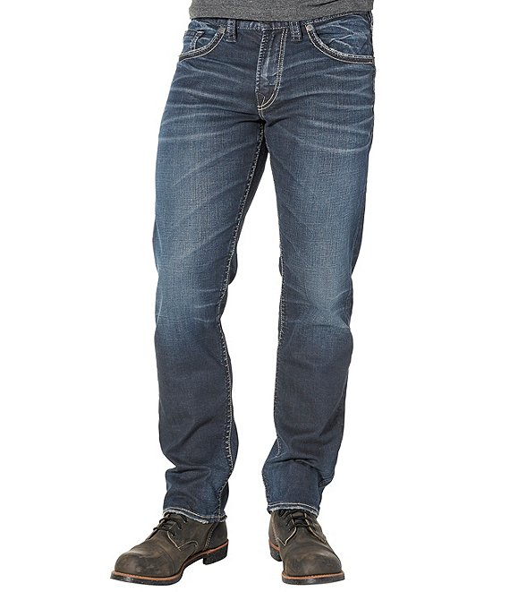 Color:Indigo - Image 1 - Big & Tall Eddie Relaxed-Fit Tapered Denim Jeans