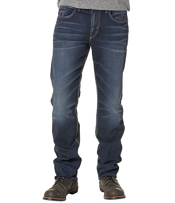 Color:Indigo - Image 1 - Big & Tall Grayson Relaxed-Fit Denim Jeans