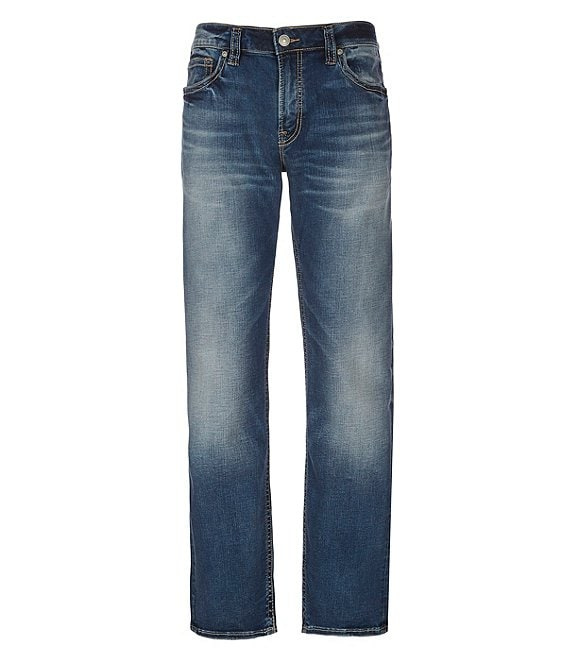 Silver Jeans Co. Eddie Relaxed Tapered-Fit Super-Stretch Jeans