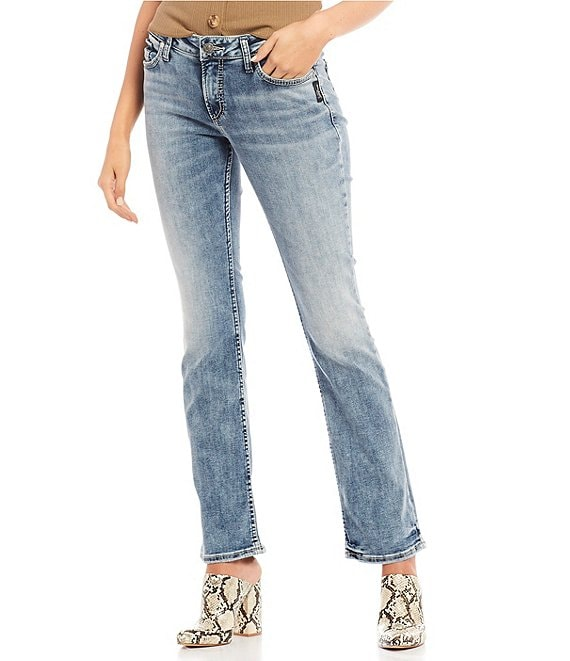 Color:Indigo - Image 1 - Elyse Mid Rise Slim Bootcut Jeans