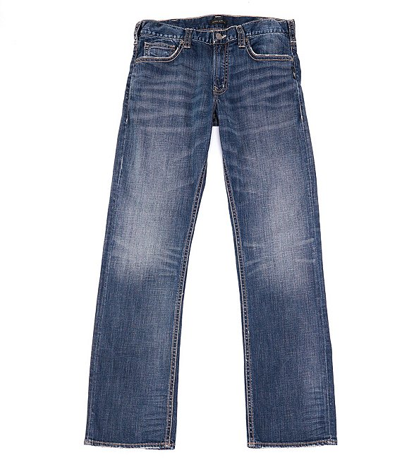 Color:Indigo - Image 1 - Zac Relaxed Straight Fit Jeans