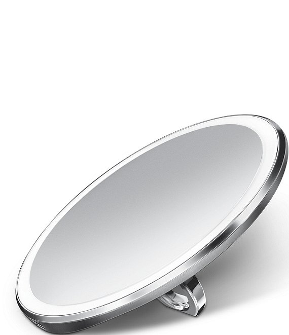 Color:Brushed Steel - Image 1 - 4#double; Sensor Lighted Mirror Compact