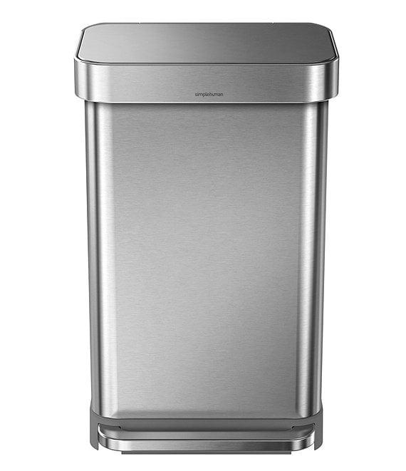 . simplehuman 45 Liter Rectangular Step Trashcan