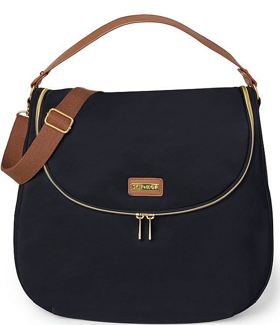 Color:Black - Image 1 - Curve Diaper Bag Satchel Bag