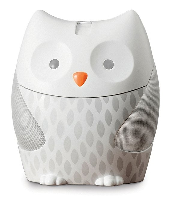 Color:White - Image 1 - Night Light & Sound Owl Soother