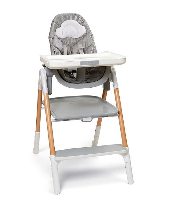 Color:White/Grey - Image 1 - Sit-To-Step High Chair