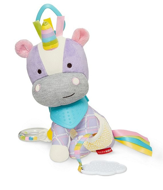 Color:Multi - Image 1 - Unicorn Buddy Rattle Toy & Teether