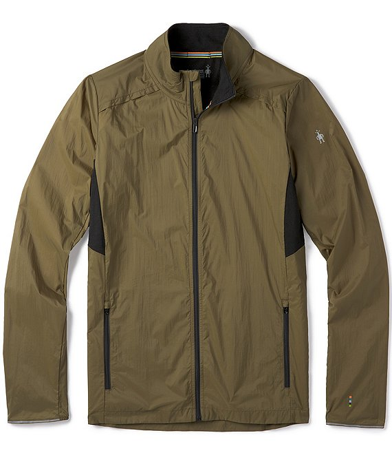 Color:Military Olive - Image 1 - Merino Sport Ultra Full-Zip Recycled Materials Water-Resistant Jacket