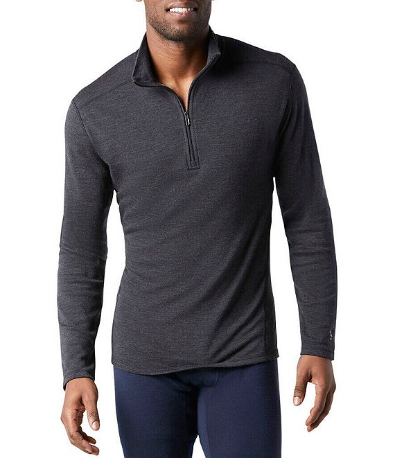SmartWool Slim-Fit Merino 250 Baselayer Solid Quarter-Zip Pullover