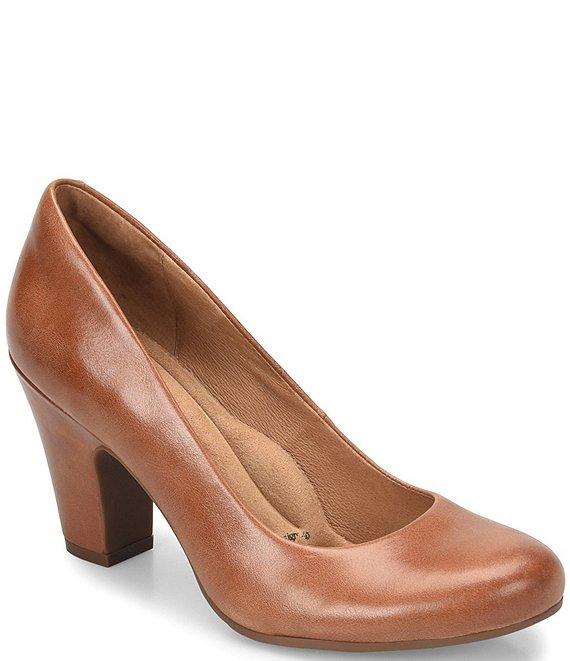 Color:Cork - Image 1 - Madina Block Heel Pumps