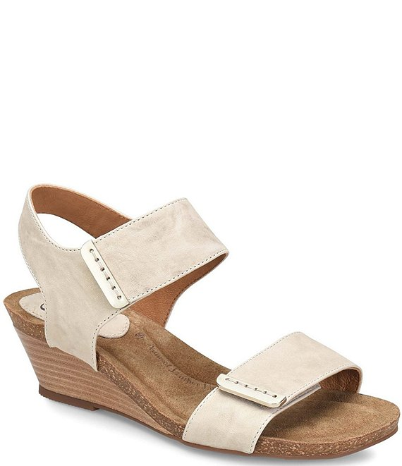 Sofft Verdi Leather Wedge Sandals