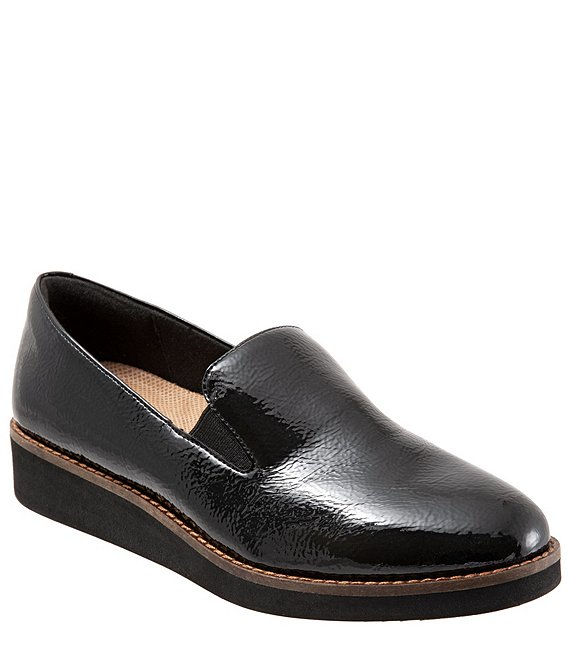 Color:Black Patent - Image 1 - Whistle Crinkle Patent Leather Slip Ons