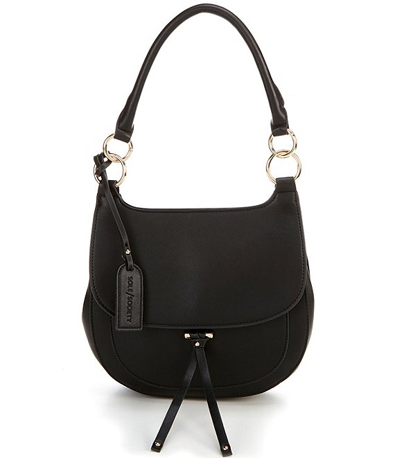 Color:Black - Image 1 - Lezar Top Handle Flap Shoulder Bag