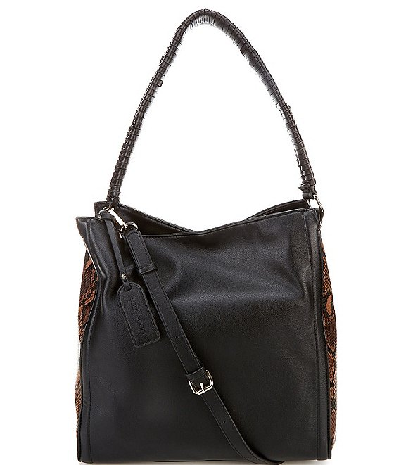Color:Black Snake Combo - Image 1 - Maize Snake Print Shoulder Bag
