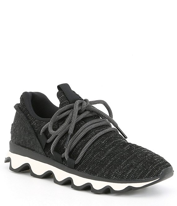 Color:Black - Image 1 - Kinetic Knit Lace-Up Sneakers
