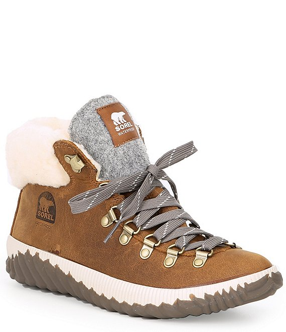 Color:ELK - Image 1 - Out N About Plus Conquest Waterproof Faux Fur Collar Booties