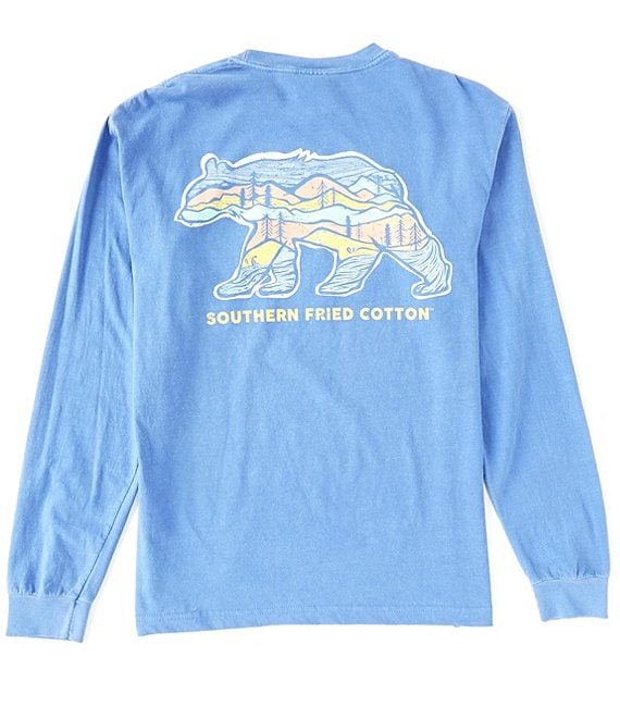 Color:Flo Blue - Image 1 - Big Bear Graphic Long-Sleeve Tee