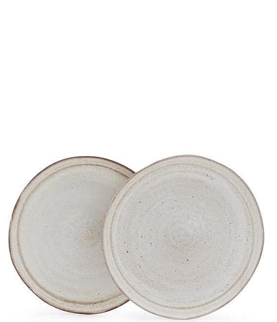 Southern Living Astra Glazed Stripe Side Plate, Set of 2