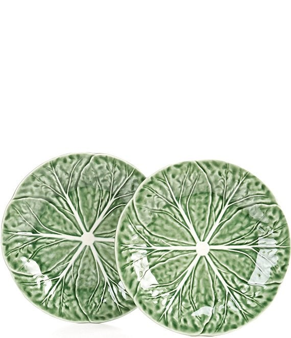 Color:Green - Image 1 - Easter Collection Cabbage Salad Plates, Set of 2