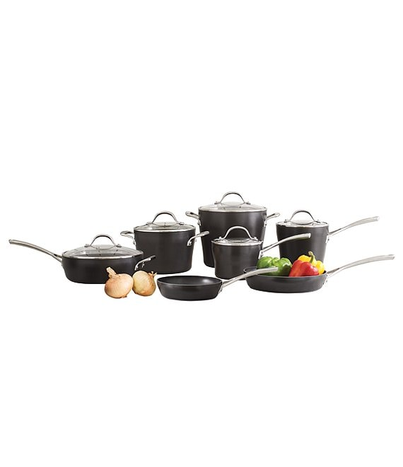 Southern Living Hard-Anodized Aluminum 12-Piece Cookware Set