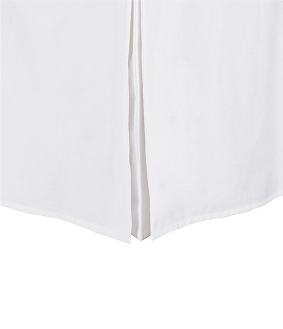 Color:White - Image 1 - Heirloom Pleated Sateen Bedskirt