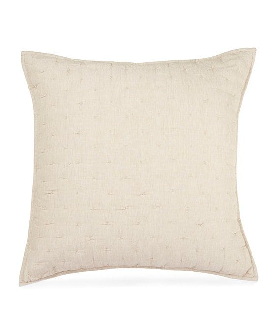 Southern Living Heirloom Quilted Distressed Linen Euro Sham