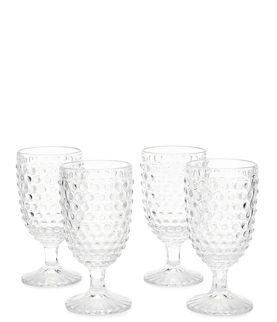 Southern Living Hobnail Goblet Set of 4