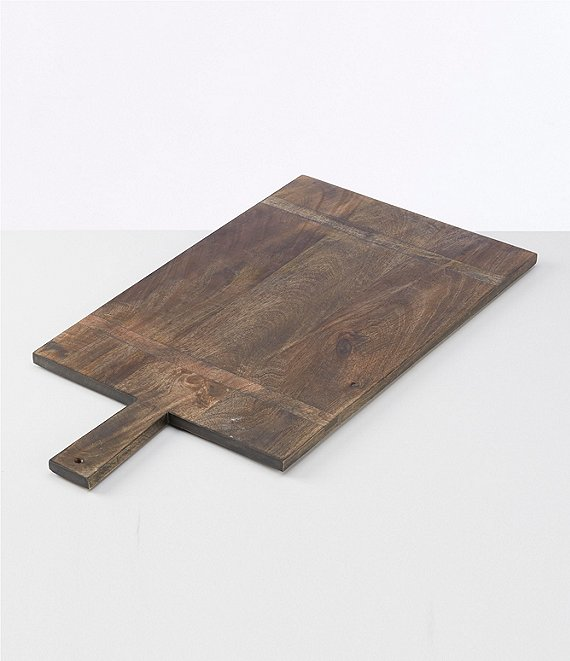 Color:Grey - Image 1 - Mango Wood Rectangle Paddle Serving Board