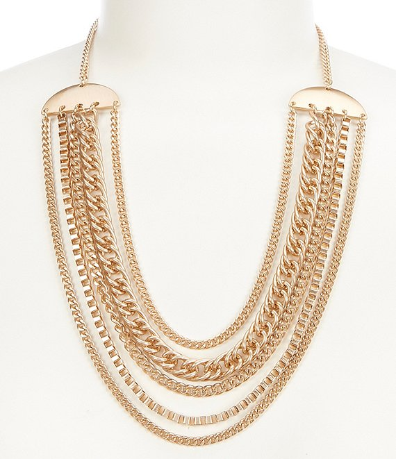 Southern Living Mixed Chain Necklace