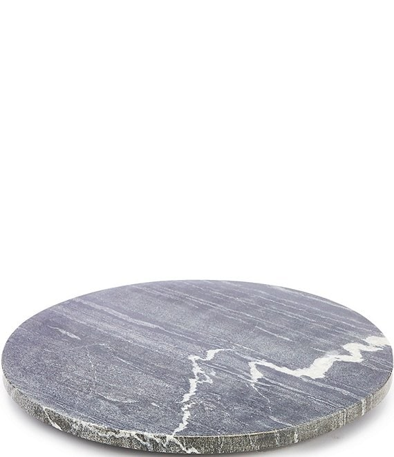 Color:Grey - Image 1 - Spring Collection Round Marble Cheese Board with Resin Feet