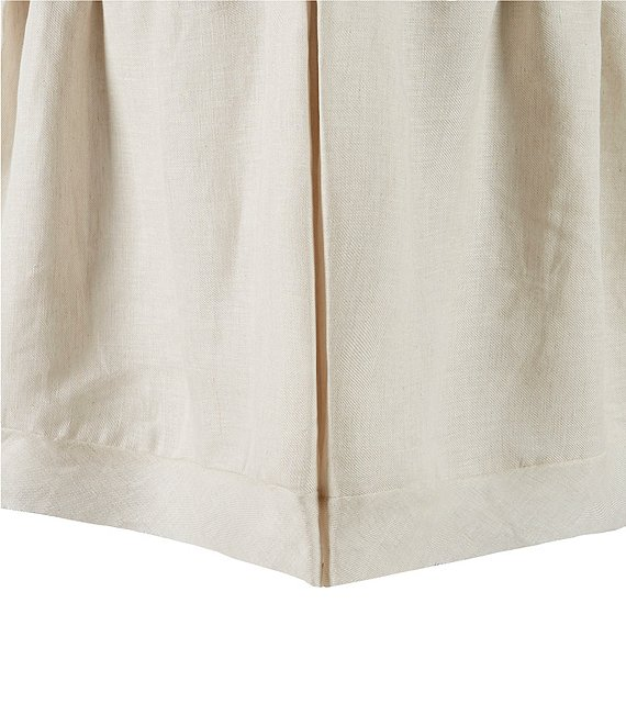 Color:Natural - Image 1 - Simplicity Aiden Linen Bed Skirt