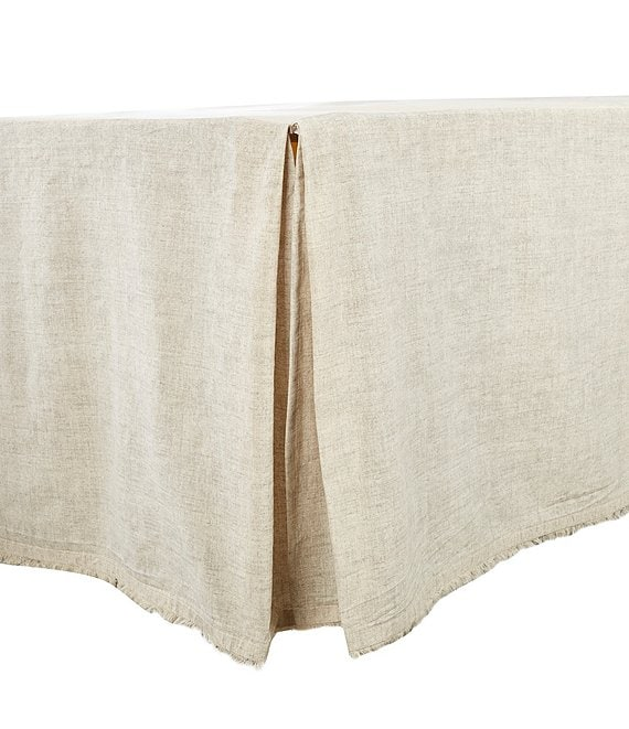 Color:Taupe - Image 1 - Simplicity Collection Tanner Fringed Bed Skirt