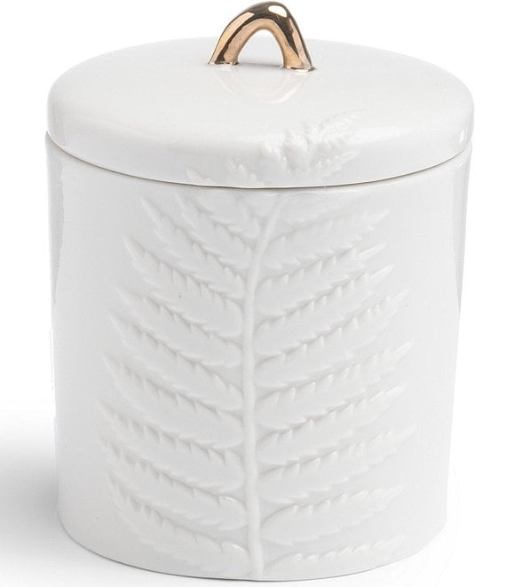 Color:White - Image 1 - Simplicity Spa Collection Covered Jar