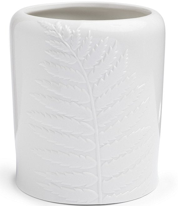 Color:White - Image 1 - Southern Living Simplicity Spa Collection Wastebasket