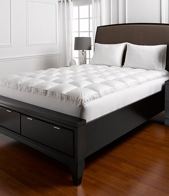 Color:White - Image 1 - Ultra Feather™ 500-Thread-Count Mattress Topper