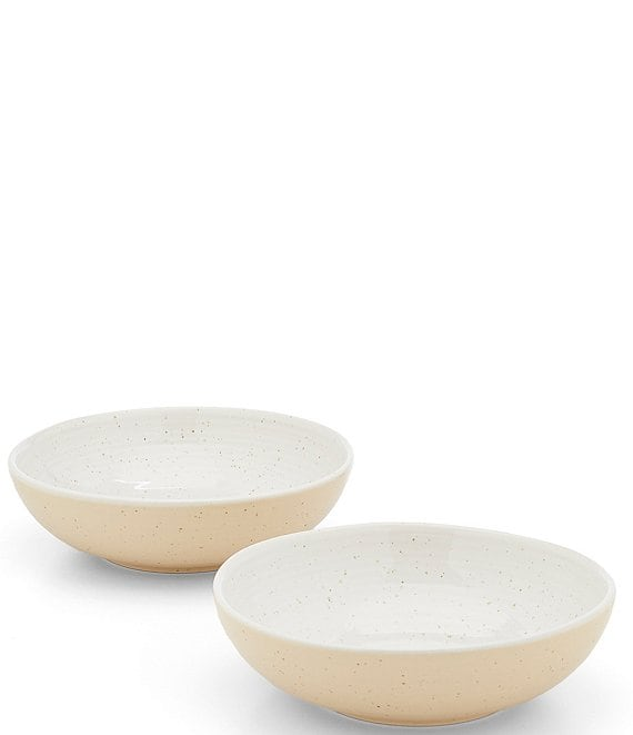 Southern Living Simplicity Collection White and Natural Speckled Pasta/Soup Bowl