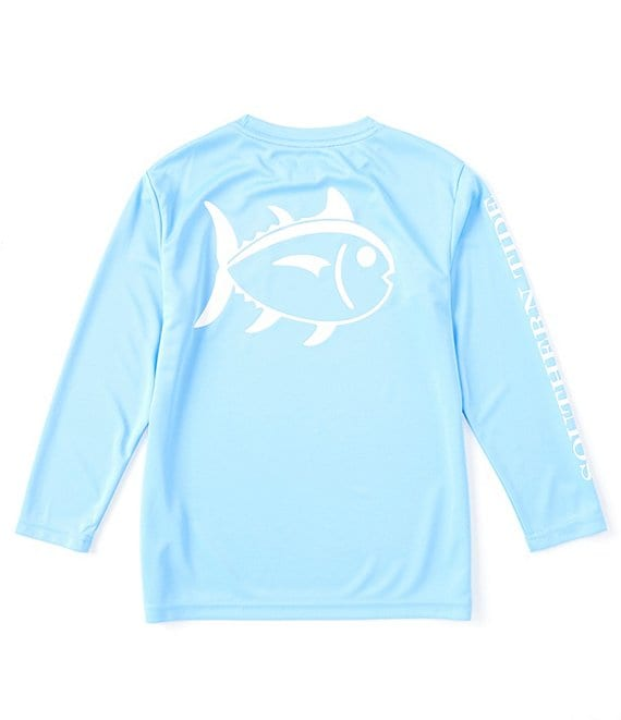 Southern Tide Little/Big Boys 4-16 Long-Sleeve Graphic Outline Skipjack Performance Tee