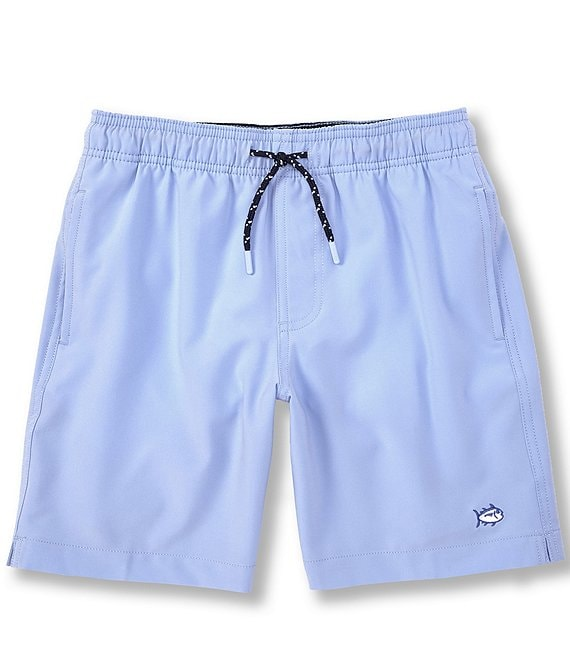 Color:Sky Blue - Image 1 - Little/Big Boys 4-20 Swim Trunks