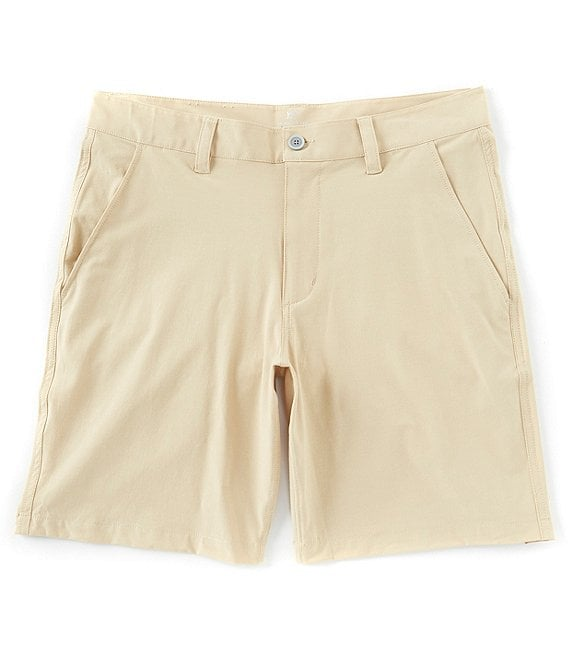 Color:Coastal Khaki - Image 1 - T3 Flat-Front 9#double; Inseam Gulf Shorts