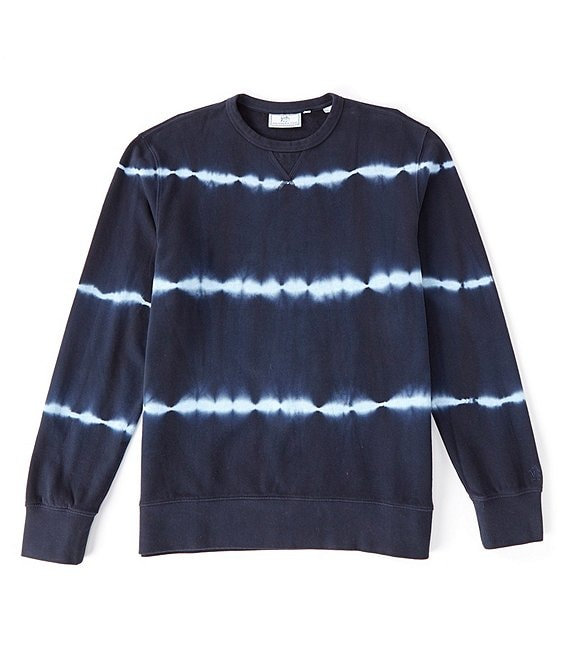 Color:True Navy - Image 1 - Upper Deck Tie Dye Stripe Long-Sleeve Sweatshirt