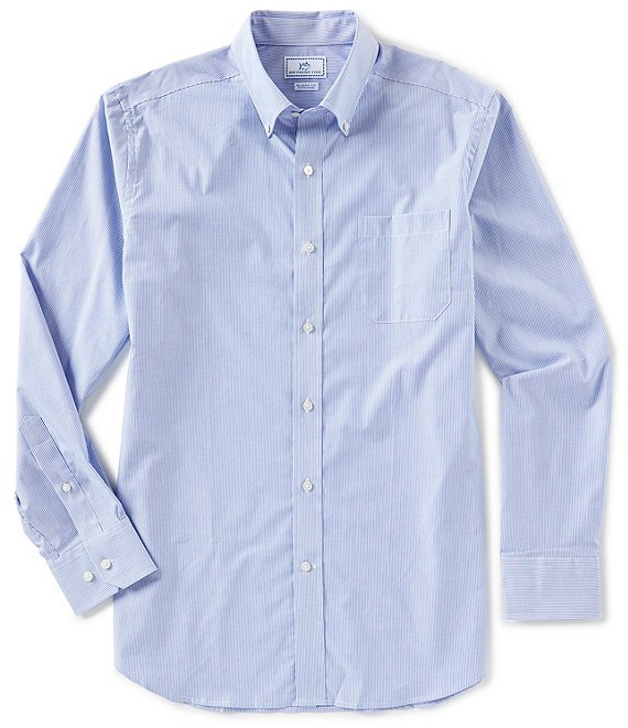 Southern Tide Wedgewood Stripe Long-Sleeve Woven Shirt
