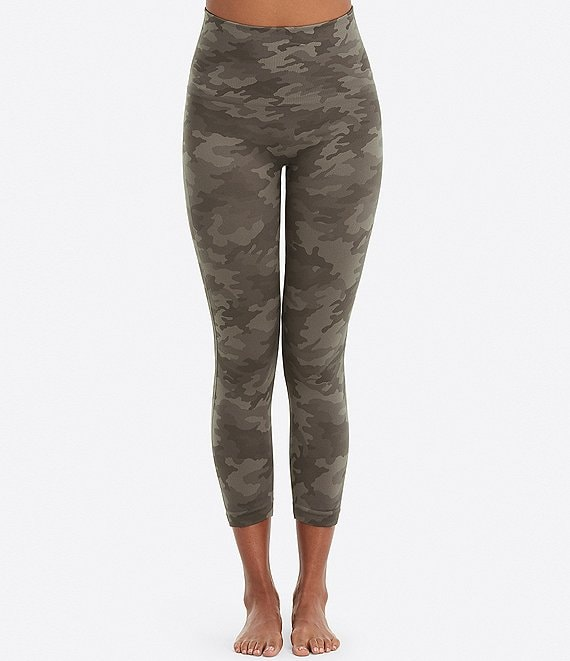 Color:Sage Camo - Image 1 - Look At Me Now Camo Cropped Shaping Leggings