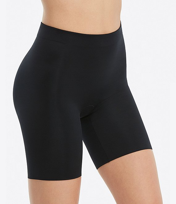 Color:Very Black - Image 1 - Suit Your Fancy Booty Booster Mid-Thigh Shaper