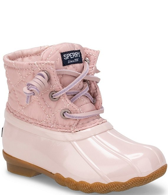 Color:Blush - Image 1 - Girls' Quilted Saltwater Winter Boots (Infant)