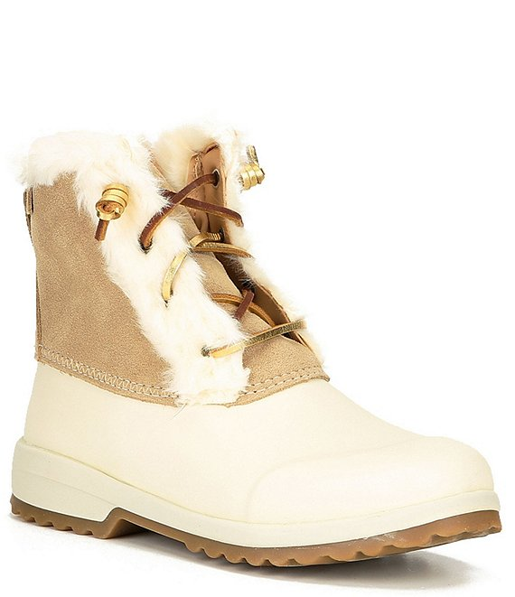Color:Sand - Image 1 - Maritime Repel Water Resistant Suede Winter Boots