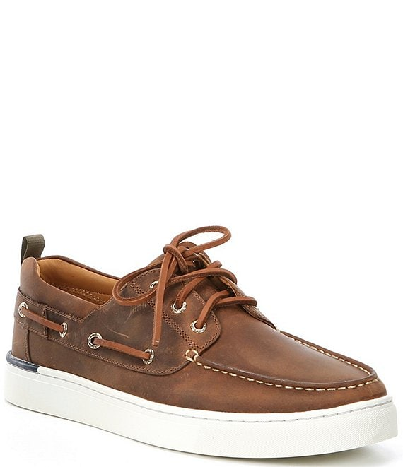 Gold Victura 3-Eye Leather Sneakers