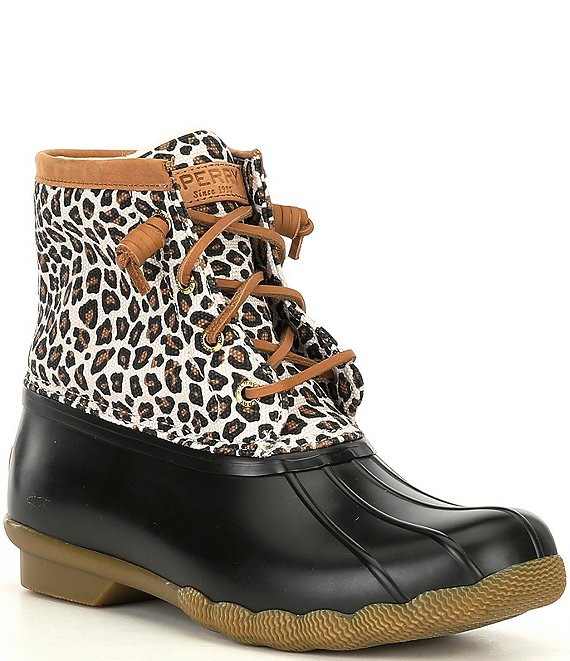 Color:Multi - Image 1 - Saltwater Animal Print Textile Rain Booties