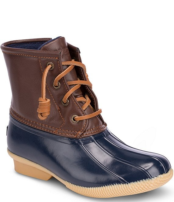 Color:Navy - Image 1 - Saltwater Kids' Winter Duck Boots (Youth)