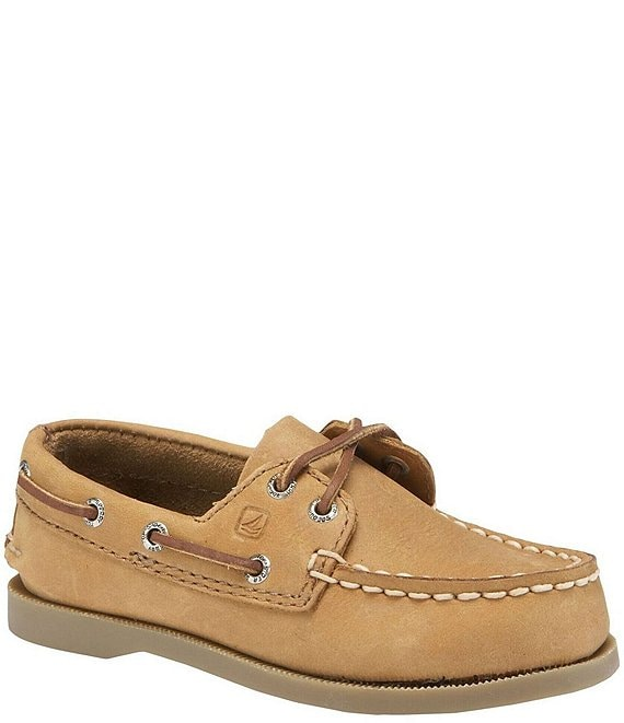 Color:Sahara - Image 1 - Top-Sider Boys' Authentic Original Boat Shoes (Youth)